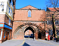 Dated Arch in Chester, near Neston